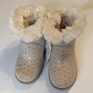 Cat and Jack Tan Oriole Style Boots Toddler 9